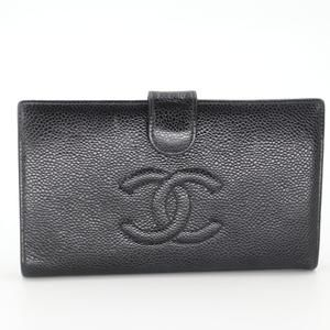 Caviar Leather CC Long French Purse Wallet